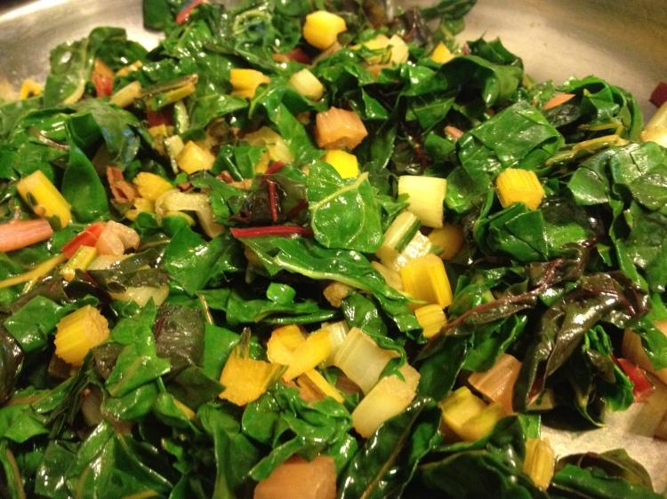 cooked swiss chard
